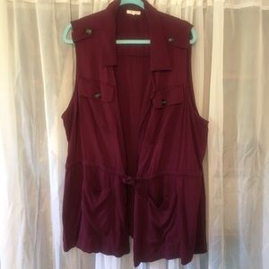 Maurice's Burgundy layering vest!